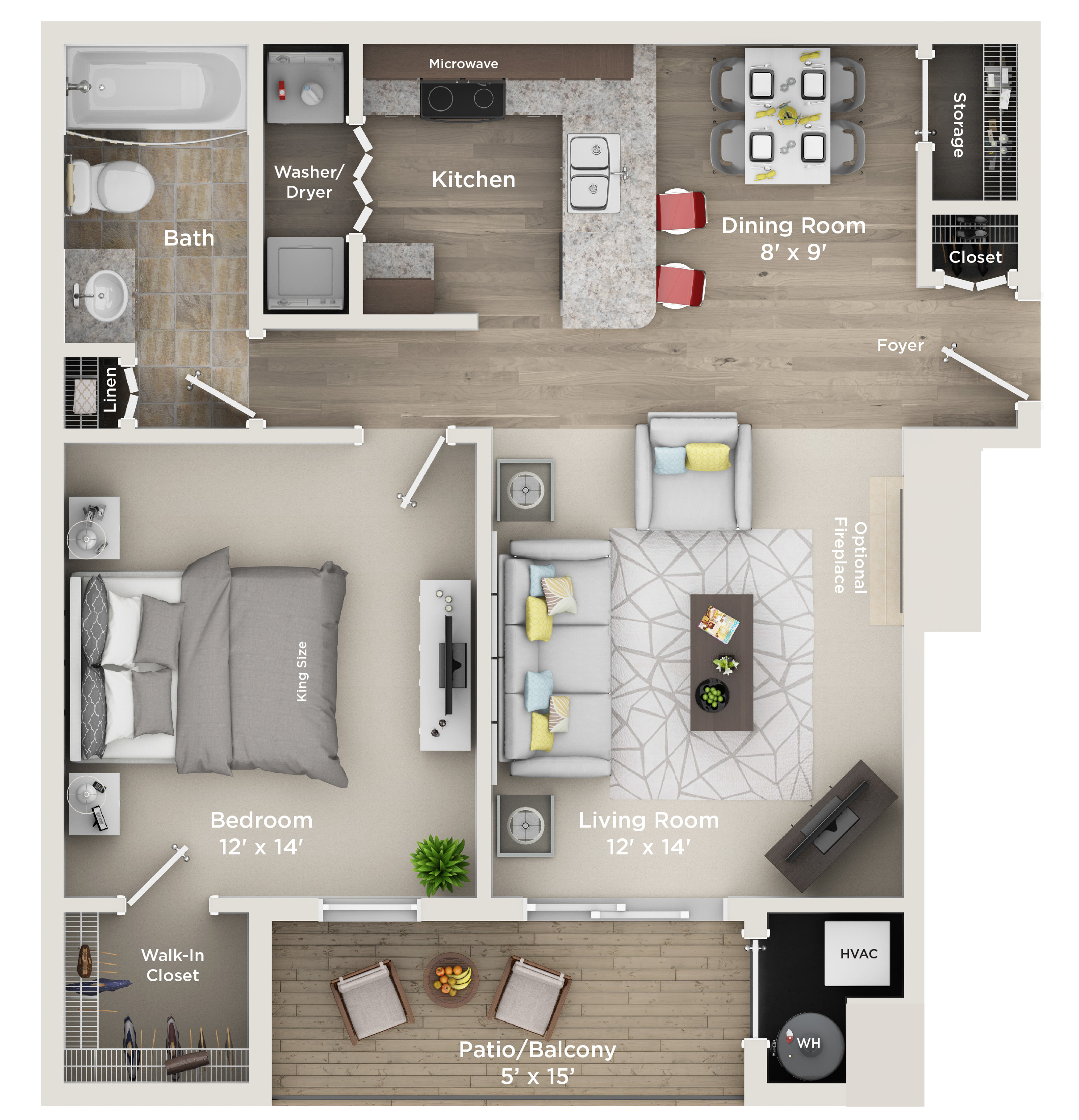 Apartments Hunter: One Bedroom, One Bath